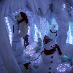 Scena ghiaccio con animatronics